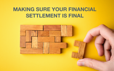 Making sure your financial settlement is final