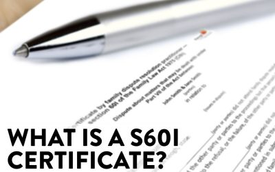 What is a s60I certificate?